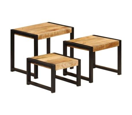 vidaXL Nesting Tables 3 pcs Solid Mango Wood[13/13]
