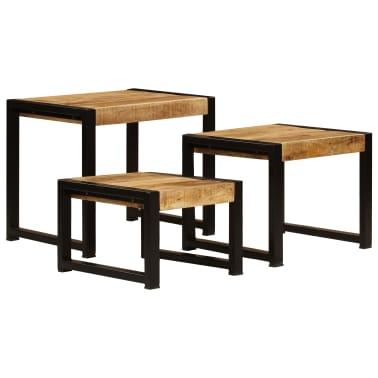 vidaXL Nesting Tables 3 pcs Solid Mango Wood[2/13]