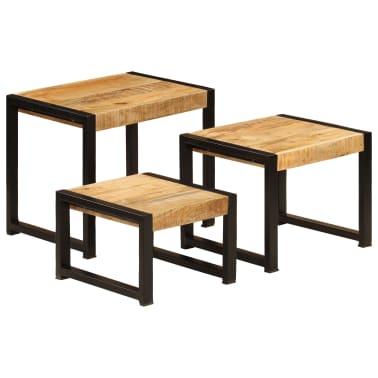 vidaXL Nesting Tables 3 pcs Solid Mango Wood[11/13]