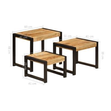 vidaXL Nesting Tables 3 pcs Solid Mango Wood[10/13]