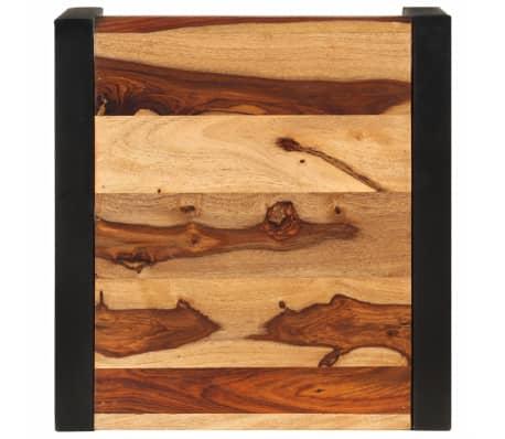 vidaXL Sudedami staliukai, 3 vnt., rausv. dalb. medienos masyvas[9/13]