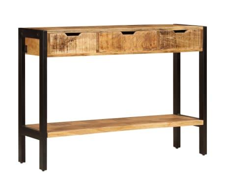 "vidaXL Sideboard with 3 Drawers 43.3""x13.8""x29.5"" Solid Mango Wood[2/12]"