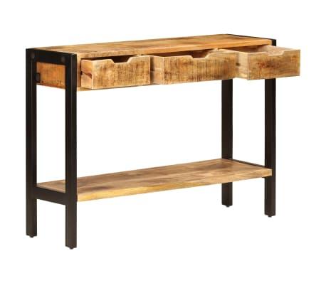 "vidaXL Sideboard with 3 Drawers 43.3""x13.8""x29.5"" Solid Mango Wood[4/12]"