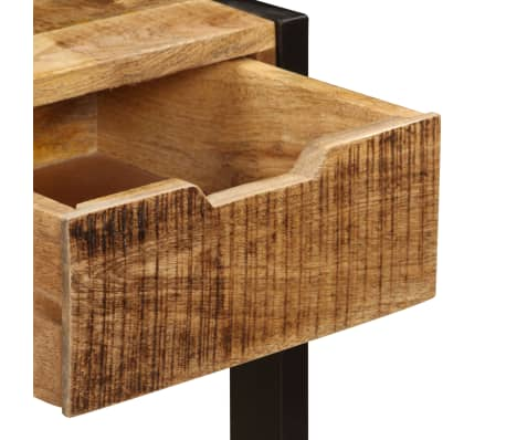 "vidaXL Sideboard with 3 Drawers 43.3""x13.8""x29.5"" Solid Mango Wood[6/12]"