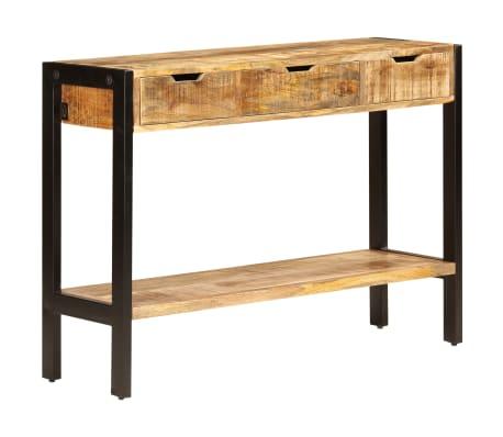 "vidaXL Sideboard with 3 Drawers 43.3""x13.8""x29.5"" Solid Mango Wood[9/12]"