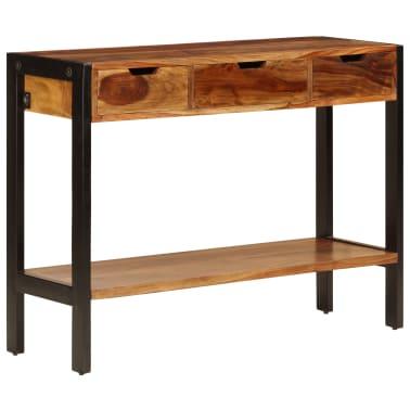 vidaXL Sideboard with 3 Drawers 110x35x75 cm Solid Sheesham Wood[1/12]