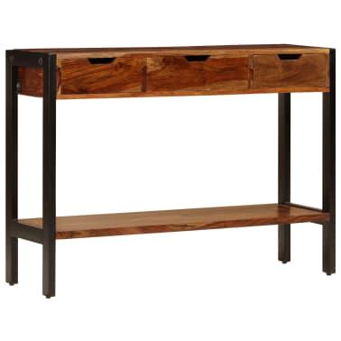 vidaXL Sideboard with 3 Drawers 110x35x75 cm Solid Sheesham Wood[2/12]