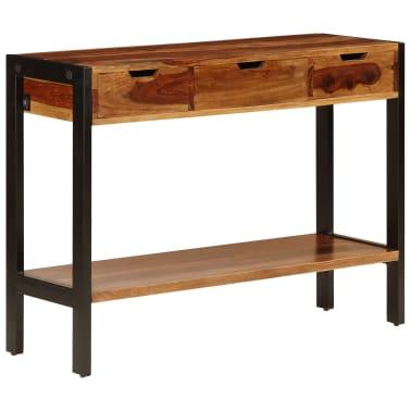 vidaXL Sideboard with 3 Drawers 110x35x75 cm Solid Sheesham Wood[12/12]