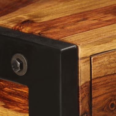 vidaXL Sideboard with 3 Drawers 110x35x75 cm Solid Sheesham Wood[5/12]