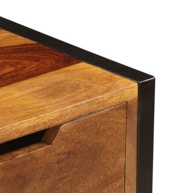 vidaXL Sideboard with 3 Drawers 110x35x75 cm Solid Sheesham Wood[6/12]