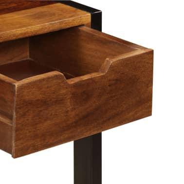 vidaXL Sideboard with 3 Drawers 110x35x75 cm Solid Sheesham Wood[7/12]