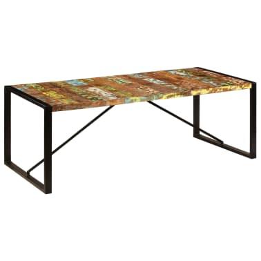 vidaXL Valgomojo stalas, 220x100x75cm, perdirbtos medienos masyvas[1/11]