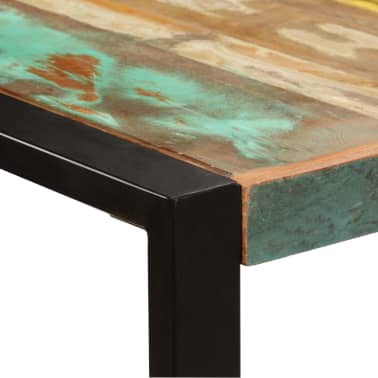 vidaXL Valgomojo stalas, 220x100x75cm, perdirbtos medienos masyvas[3/11]