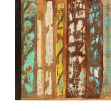vidaXL Valgomojo stalas, 220x100x75cm, perdirbtos medienos masyvas[5/11]