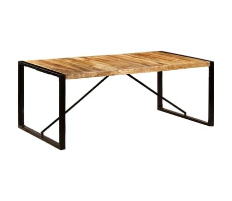 vidaXL Mesa de comedor de madera maciza de mango 200x100x75
