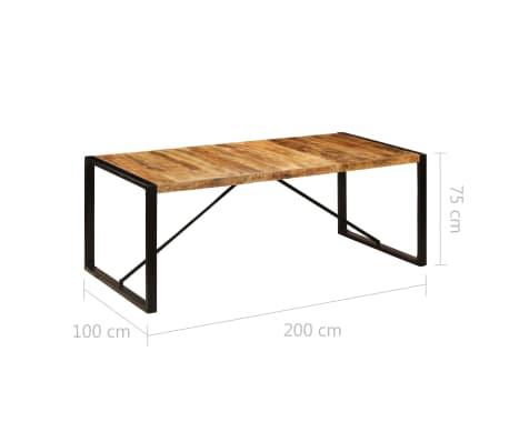 vidaXL Eettafel 200x100x75 cm massief mangohout[6/11]