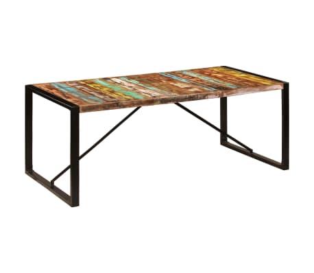 vidaXL Jedilna miza 200x100x75 cm trden predelani les[10/12]