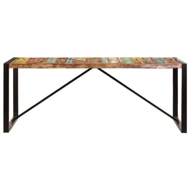 vidaXL Jedilna miza 200x100x75 cm trden predelani les[2/12]