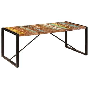 vidaXL Jedilna miza 200x100x75 cm trden predelani les[9/12]