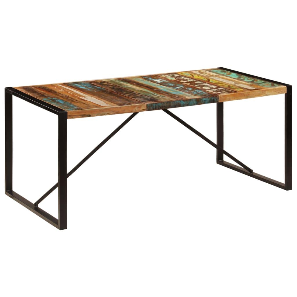 vidaXL Masă de bucătărie, 180 x 90 x 75 cm, lemn masiv reciclat vidaxl.ro