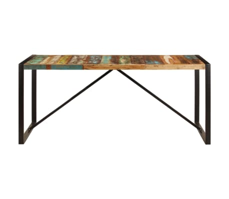 vidaXL Eettafel 180x90x75 cm massief gerecycled hout[2/11]