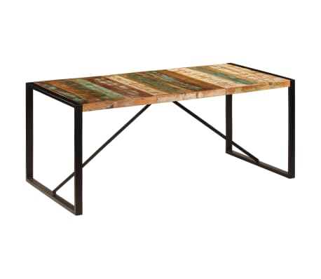 vidaXL Eettafel 180x90x75 cm massief gerecycled hout[11/11]