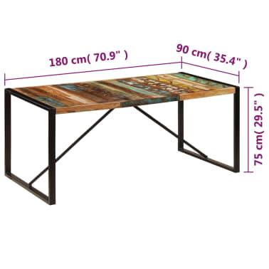 vidaXL Eettafel 180x90x75 cm massief gerecycled hout[6/11]