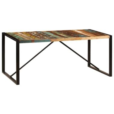 vidaXL Eettafel 180x90x75 cm massief gerecycled hout[7/11]