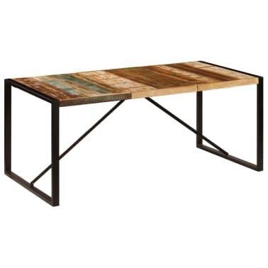 vidaXL Eettafel 180x90x75 cm massief gerecycled hout[8/11]