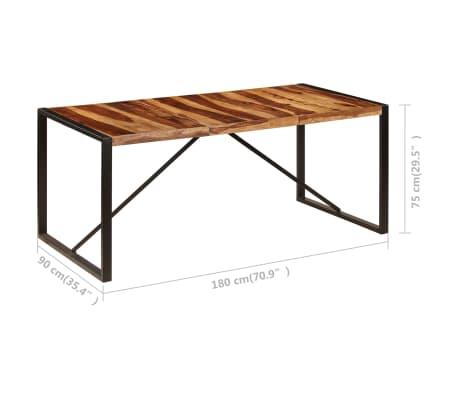 "vidaXL Dining Table 70.9""x35.4""x29.5"" Solid Sheesham Wood[6/11]"
