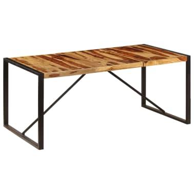 "vidaXL Dining Table 70.9""x35.4""x29.5"" Solid Sheesham Wood[10/11]"