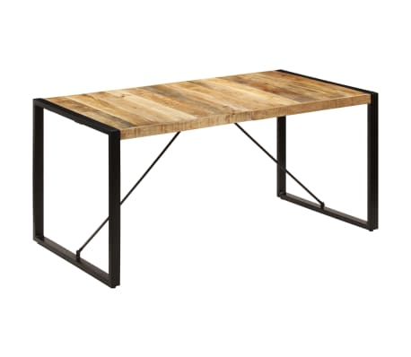 vidaXL Dining Table 160x80x75 cm Solid Mango Wood