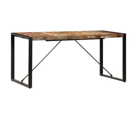 vidaXL Valgomojo stalas, 160x80x75cm, perdirbtos medienos masyvas[2/14]