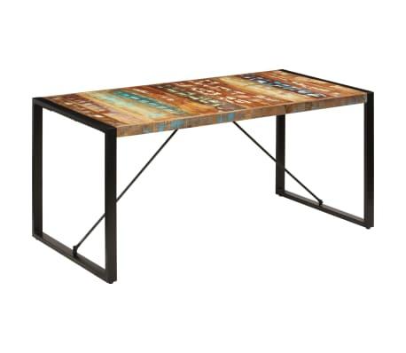 vidaXL Valgomojo stalas, 160x80x75cm, perdirbtos medienos masyvas[11/14]