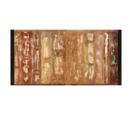 vidaXL Valgomojo stalas, 160x80x75cm, perdirbtos medienos masyvas[6/14]