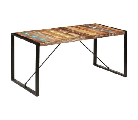 vidaXL Valgomojo stalas, 160x80x75cm, perdirbtos medienos masyvas[10/14]