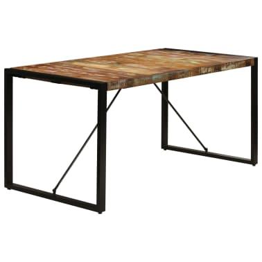 vidaXL Valgomojo stalas, 160x80x75cm, perdirbtos medienos masyvas[14/14]