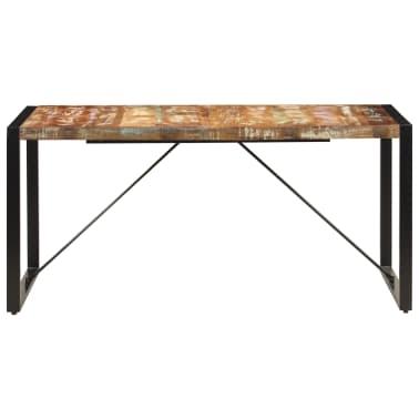 vidaXL Valgomojo stalas, 160x80x75cm, perdirbtos medienos masyvas[3/14]