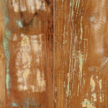 vidaXL Valgomojo stalas, 160x80x75cm, perdirbtos medienos masyvas[7/14]