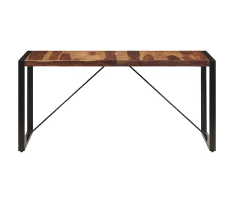 "vidaXL Dining Table 63""x31.5""x29.5"" Solid Sheesham Wood[3/13]"