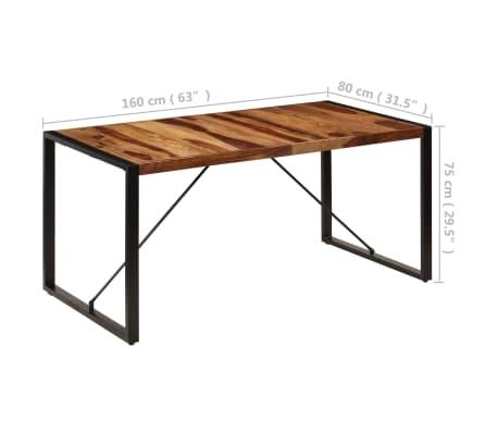 "vidaXL Dining Table 63""x31.5""x29.5"" Solid Sheesham Wood[8/13]"