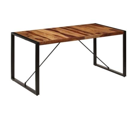 "vidaXL Dining Table 63""x31.5""x29.5"" Solid Sheesham Wood[10/13]"