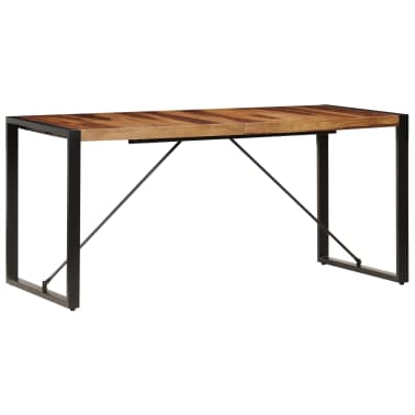 "vidaXL Dining Table 63""x31.5""x29.5"" Solid Sheesham Wood[2/13]"