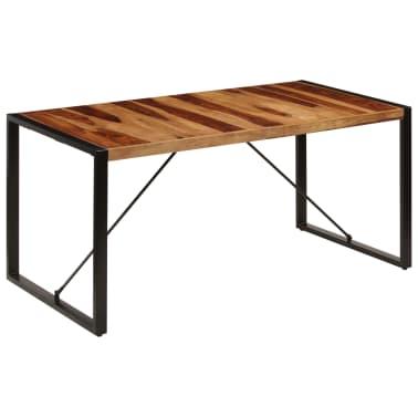 "vidaXL Dining Table 63""x31.5""x29.5"" Solid Sheesham Wood[12/13]"