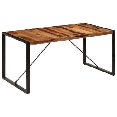"vidaXL Dining Table 63""x31.5""x29.5"" Solid Sheesham Wood[9/13]"