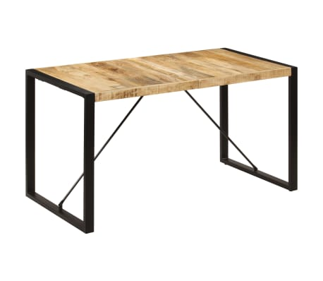 "vidaXL Dining Table 55.1""x27.6""x29.5"" Solid Mango Wood[12/13]"
