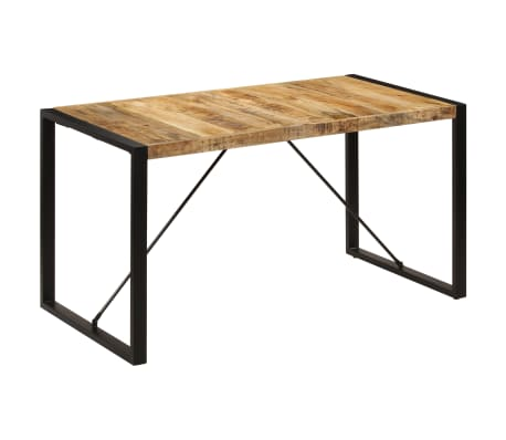 "vidaXL Dining Table 55.1""x27.6""x29.5"" Solid Mango Wood[10/13]"