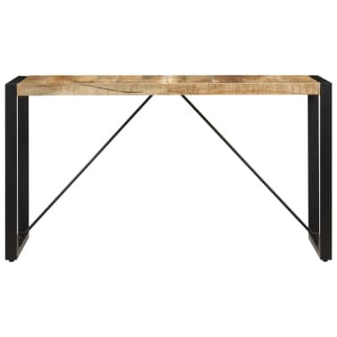 "vidaXL Dining Table 55.1""x27.6""x29.5"" Solid Mango Wood[2/13]"