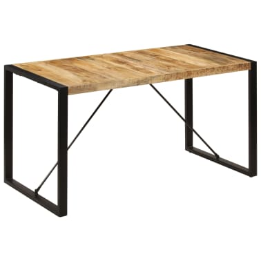 "vidaXL Dining Table 55.1""x27.6""x29.5"" Solid Mango Wood[9/13]"