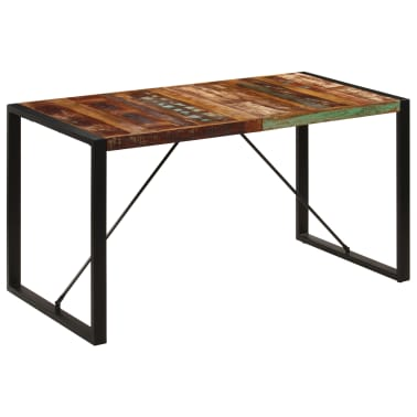vidaXL Dining Table 140x70x75 cm Solid Reclaimed Wood[1/13]